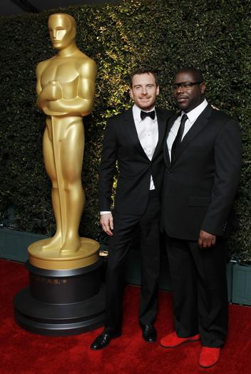 "German actor Michael Fassbender and English director Steve McQueen, who worked together on the film ""Shame."""