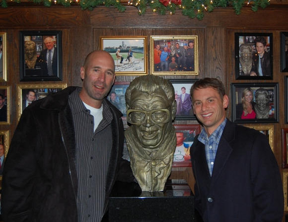 New Cubs manager Dale Sveum, left, and GM Jed Hoyer at Harry Caray's in River North on Thursday night. (Photo courtesy of Harry Caray's Restaurant Group)