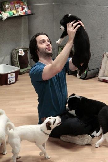 """Oh my god, I'm on a cloud of puppies."""