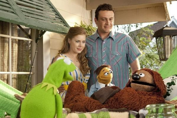 "Jason Segal and Amy Adams star in ""The Muppets."""