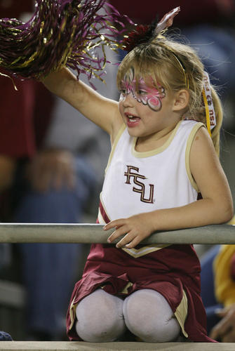 FSU fans cheer during the Virginia at Florida State University college football game at Doak Campbell Stadium in Tallahassee on Saturday, November 19, 2011.