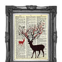 Upcycled book dictionary print art