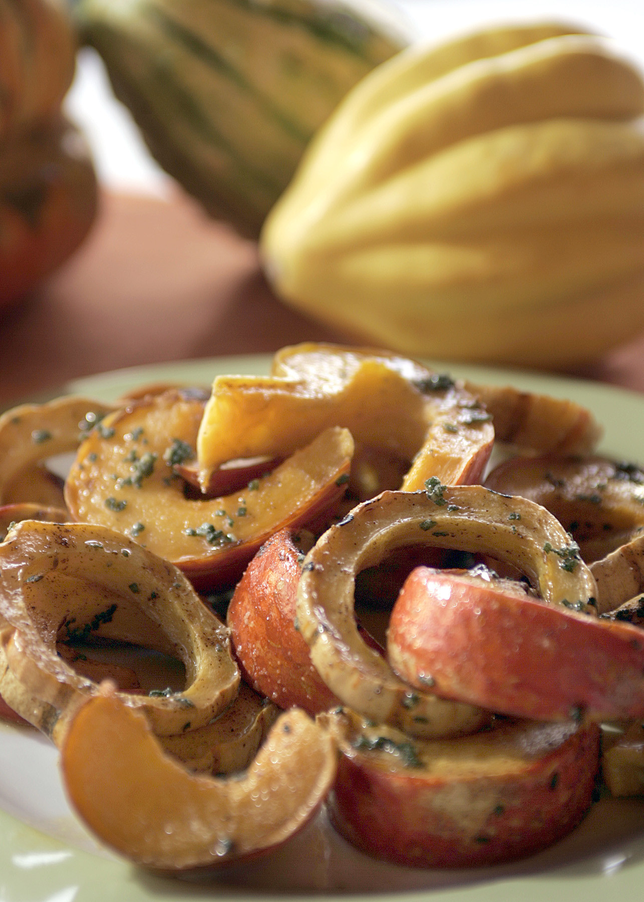 Photos: 97 great Thanksgiving recipes - Squash baked with sage and chile butter