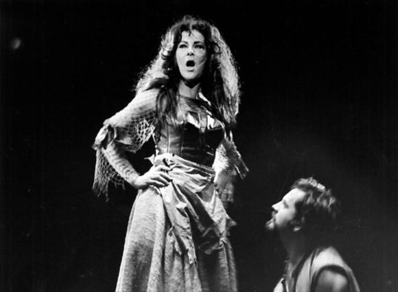 "Dolores Rothenberger in ""Man of La Mancha"" in the summer of 1970."