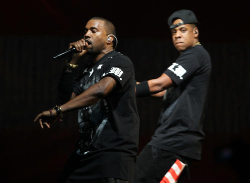 Jay Z and Kanye West play the United Center in Chicago on Wednesday, Nov. 30, 2011.