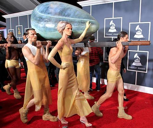 Lady Gaga and her entourage.