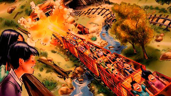Big Grizzly Mountain roller coaster at Hong Kong Disneyland