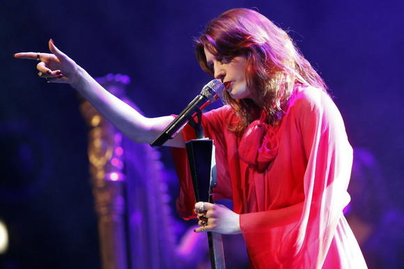 Florence and the Machine perform at the Chicago Theatre on Sunday.