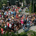 Crowds at the Wizarding World of Harry Potter