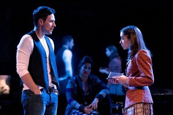 """Once"" plays at the New York Theatre Workshop before moving to Broadway."