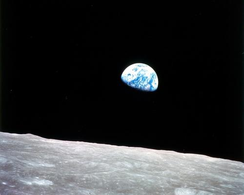 Taken by astronaut William Anders from the Apollo 8 spacecraft, this December 1968 photo of the earth rising over the lunar surface would become one of the most famous images of the 20th century.