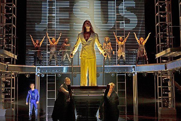 Des McAnuff pulled off something of a minor miracle in making this Broadway-bound revival of Andrew Lloyd Webber and Tim Rice's rock opera seem as fresh and vital as when it first appeared.<br> <br> Pictured: Paul Nolan as Jesus.
