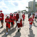 Santa goes to the beach