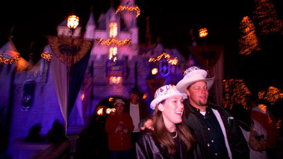A past New Year's Eve at Disneyland.