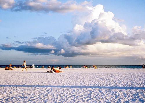 A view of Siesta Beach on Siesta Key near Sarasota, Fla.