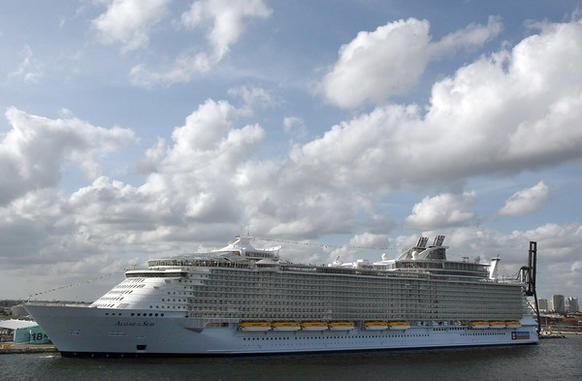 Royal Caribbean's newest ship, the Allure of the Seas docked at Port Everglades.