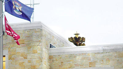 The siren atop Charlevoix City Hall, pictured here will be one of three in Charlevoix county to be used to alert area residents in the event of an serious immediate threat, such as a tornado.