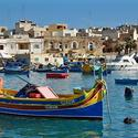 A small fishing village in Malta