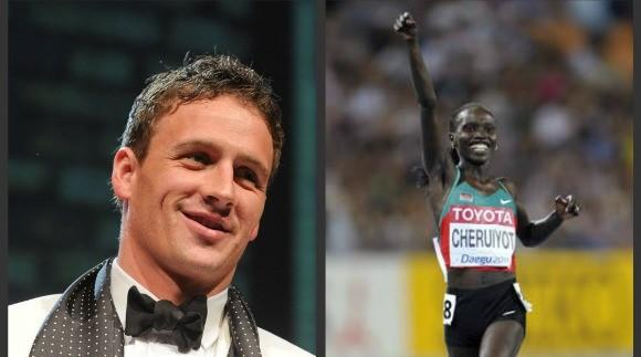 U.S. swimmer Ryan Lochte and Kenyan runner Vivian Cheruiyot topped the Olympic sports world in year leading to London Summer Games.