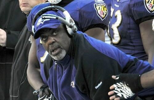 Ravens defensive line coach Clarence Brooks