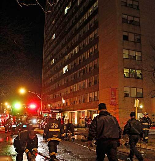 Woman killed in Lake Shore Drive high-rise fire