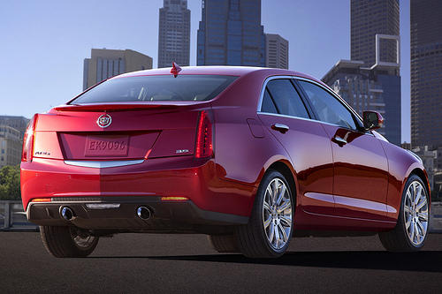 A shoulder line appears under the C-pillar, sweeping around the tail. It looks OK, but I found the rear too busy and a bit forgettable. The wheels max out at 18 inches — appropriate here, if smaller than some rivals' wheels — to keep unsprung weight down, Cadillac says.