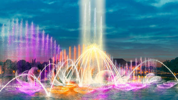 Aquanura water show at the Efteling theme park in the Netherlands.