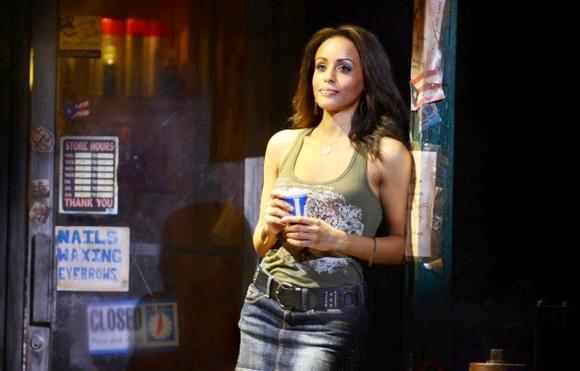 "Presilah Nunez  in the touring musical production of ""In the Heights."""
