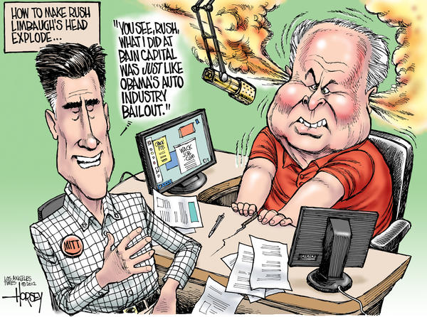 Mitt Romney makes Rush Limbaugh's head explode