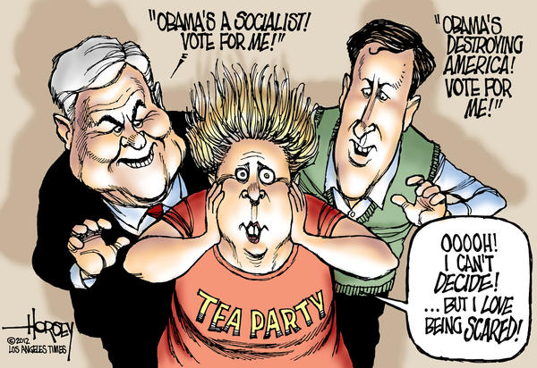 Newt Gingrich, Rick Santorum, Tea Party