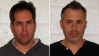 George Harasz, left, and Douglas Wirth, after their November 2011 arrests.