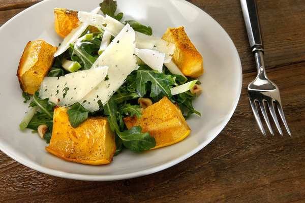 Squash and apple salad