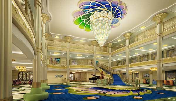 Florida Cruise Guide: Disney Fantasy pictures - Disney Fantasy renderings -- atrium lobby