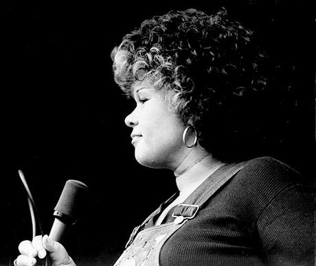 Etta James performs at L.A.'s Cocoanut Grove nightclub
