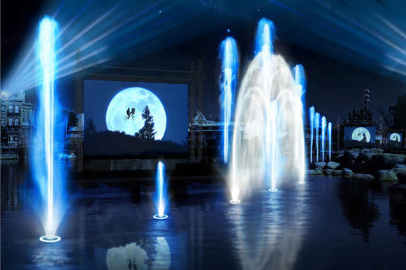 "The ""Cinematic Spectacular"" water show at Universal Orlando will incorporate iconic movie clips from ""Frankenstein,"" ""Jurassic Park,"" ""Apollo 13,"" ""Back to the Future,"" ""To Kill a Mockingbird,"" ""Jaws"" and ""E.T."" into a nighttime spectacular narrated by actor Morgan Freeman."