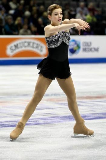 Gracie Gold winning the free skate Wednesday night.
