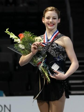 Gracie Gold with her junior gold medal.