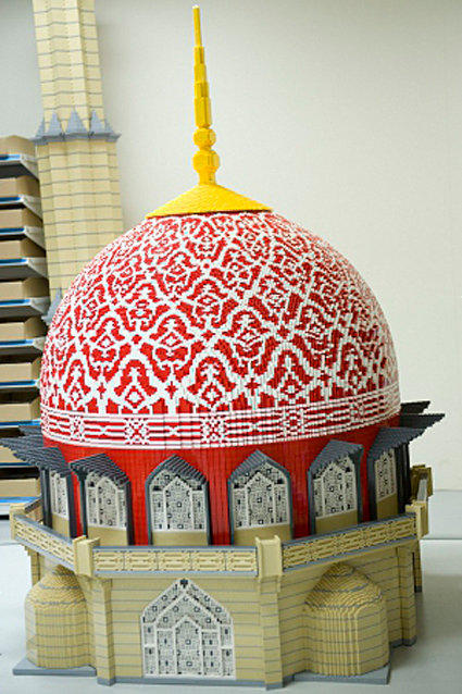 A Lego model of Putrajaya mosque, which took 4,600 hours to complete and weighs 440 pounds, built for Legoland Malaysia.