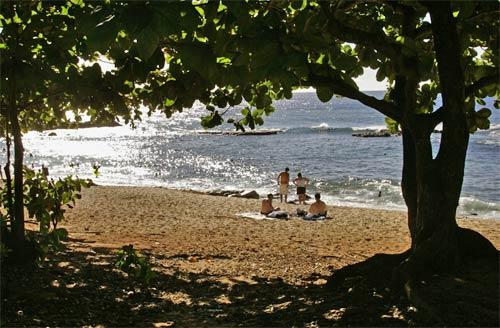 Visitors to Three Tables, at Pupukea Beach Park on Oahu's North Shore, enjoy the relative solitude away from the tourist throngs at Waikiki Beach. Oahu offers plenty of getaway spots for swimming, snorkeling, kayaking and surfing.