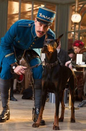"Blackie the Doberman in ""Hugo."""