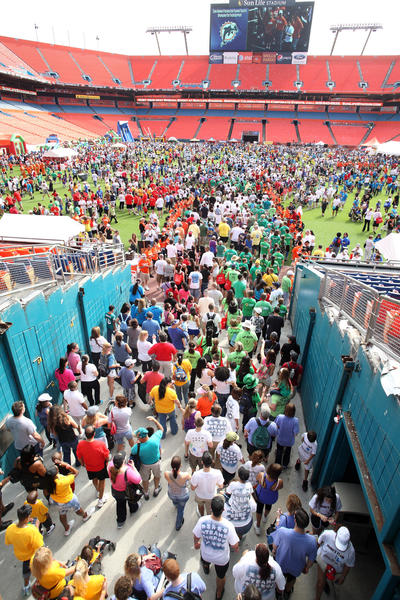 Thousands attend the Dan Marino Foundation Walkabout Autism event at Sun Life Stadium.