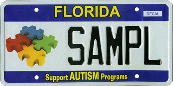 <b>Support Autism Programs</b><br> <br> Effective Sept. 1, 2009.<br> <br> <li> Total plates issued in 2012: 3,287 <li> Organizations receiving proceeds: Achievement and Rehabilitation Centers, Inc. www.arcbroward.com.