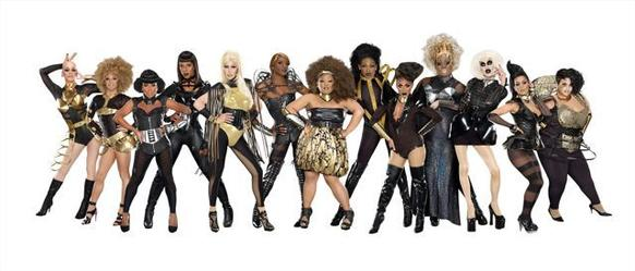 "The Season 4 cast of ""RuPaul's Drag Race."""