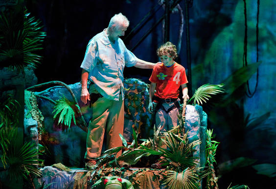 "The central characters of ""Iceploration"" are an 11-year-old boy and his grandfather. The show virtually travels the world."