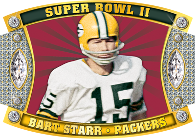 <b>BART STARR, Green Bay Packers QB</b><br>