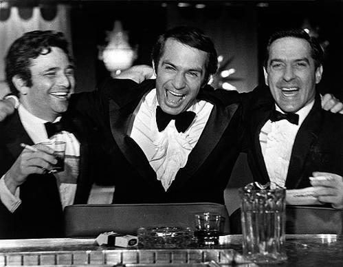 "Peter Falk, left, Ben Gazzara and John Cassavetes in Cassavetes' 1970 film ""Husbands."" <br>
