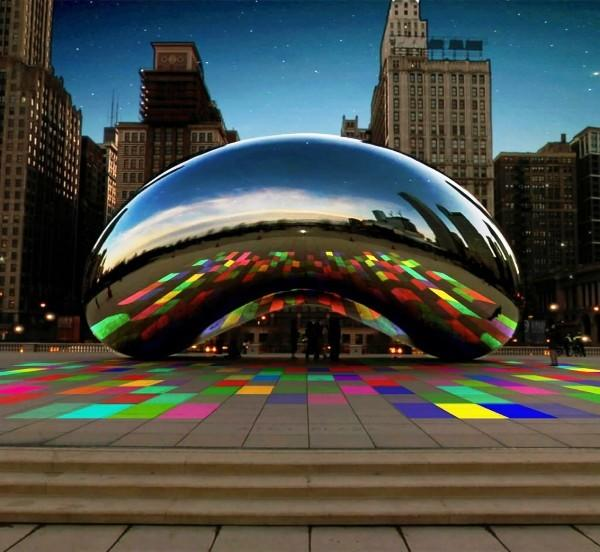 """Luminous Field"" sound and video installation at Cloud Gate in Millennium Park, which starts Feb. 10."