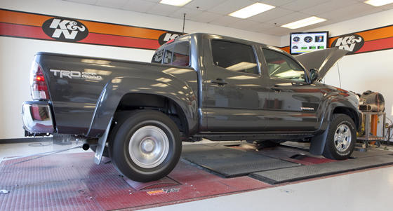 "Testing started with dynamometer readings for torque and horsepower. The 2012 Chevy Colorado, the only V-8 in the trials, gave the best performance. <a href=""http://special-reports.pickuptrucks.com/2012/01/2012-midsize-shootout-dyno-day.html"">Read more</a>"