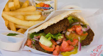 Felafel pita from Bella Pita.
