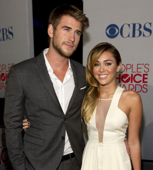 Love on the Set: Celebrity couples find real romance off camera: Set Where They Met: Last Song  Relationship Status: Its a party in the USA for Australian actor Hemsworth -- he and Miley got engaged in late 2012. And rumors keep swirling that they had a secret wedding.